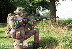 Belgian marksman of the para-regiment.