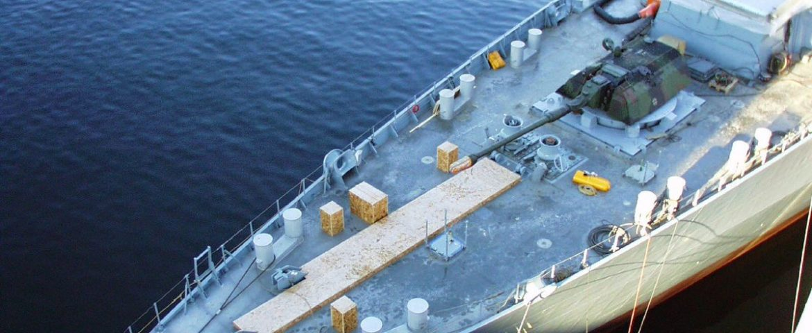 """""""MONARC"""": 155mm howitzer system mounted on F124 frigate, A whole new dimension in naval firepower"""
