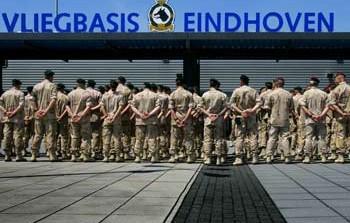 Afscheid nemen op vliegbasis Eindhoven