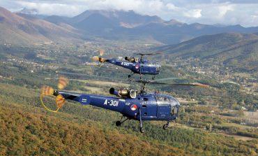 Alouette III helikopter maakt historische vlucht