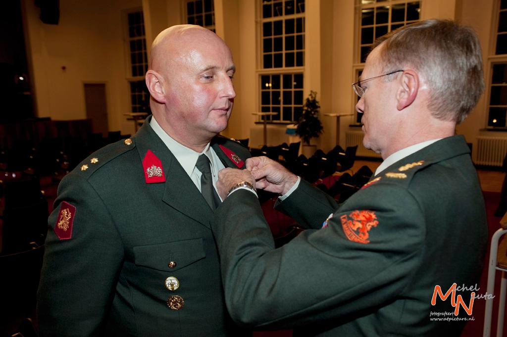 Eerste gevechtsinsigne voor reservist