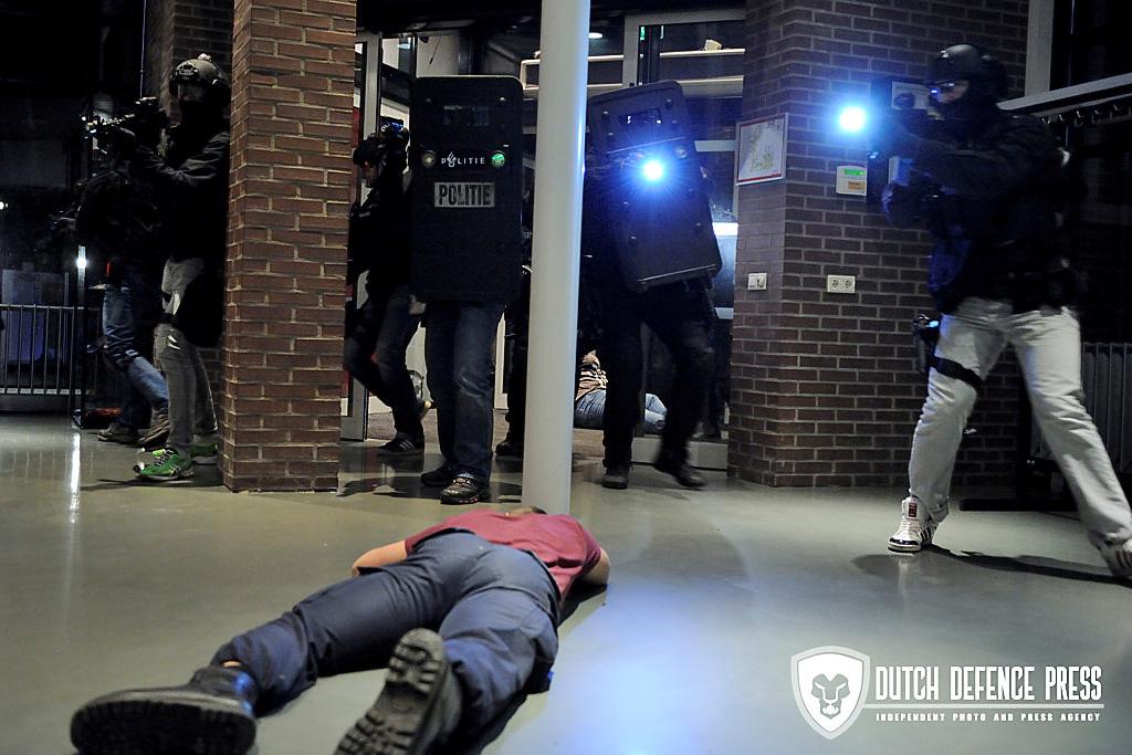 DSI oefening op de campus van de TU Twente