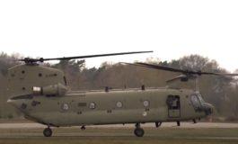 Eerste CH-47F MYII CAAS Chinook binnen