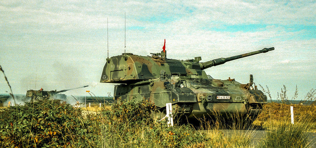 The German Army's Artillery School shows off the PzH 2000 Self-Propelled Howitzer – the most advanced system of its kind